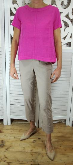 Bluse, Shirt pink aus Leinen von Yellow Label