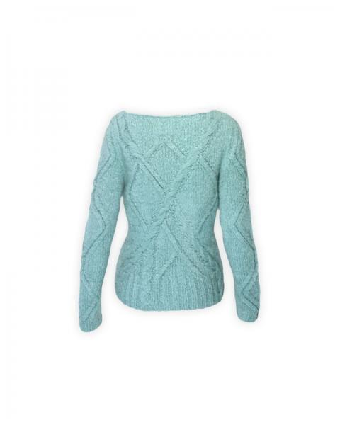 Milano Sweater INTI Knitwear in Caribe Rückseite
